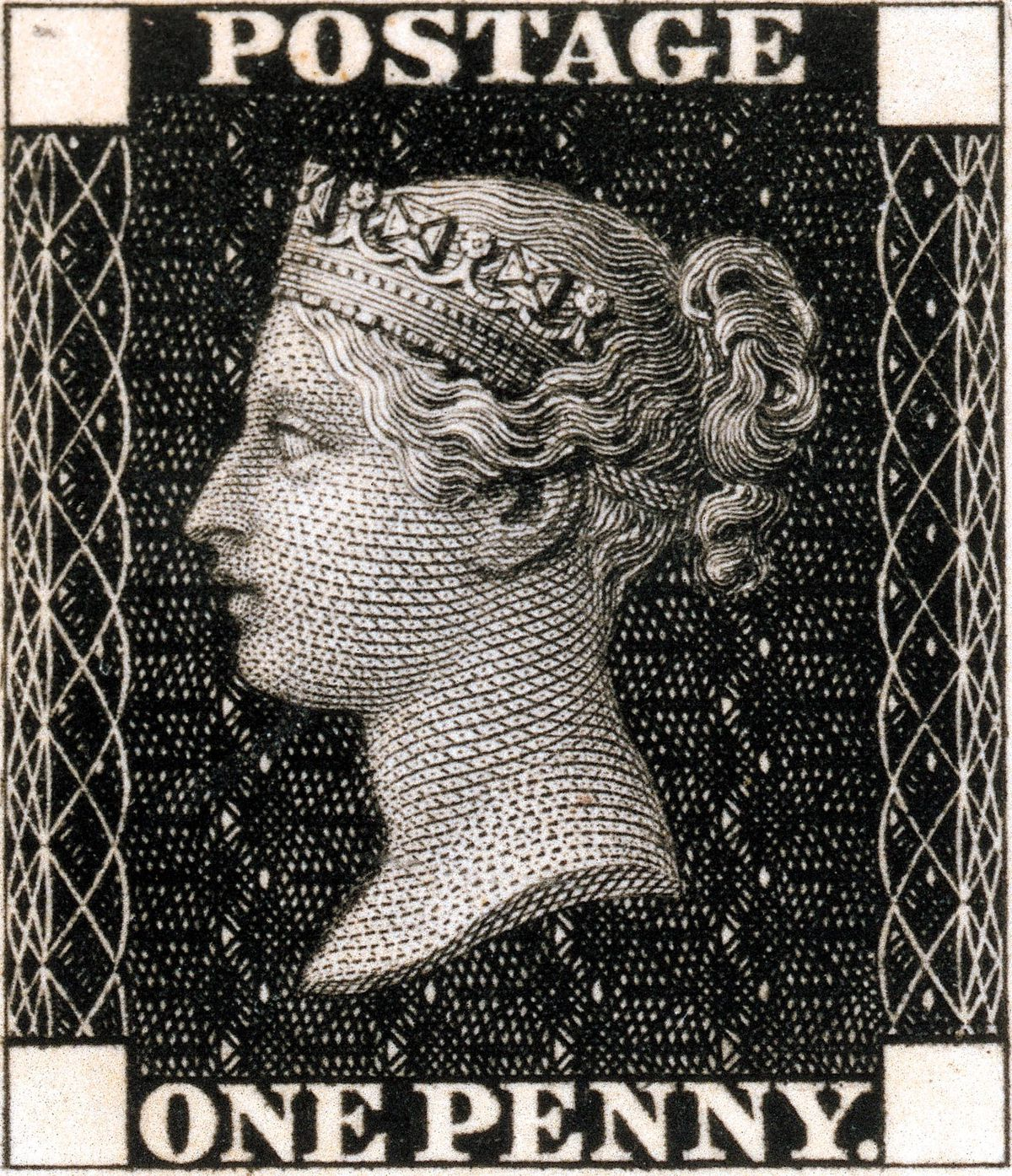 The Penny Black was the first postage stamp, but proved easy to forge