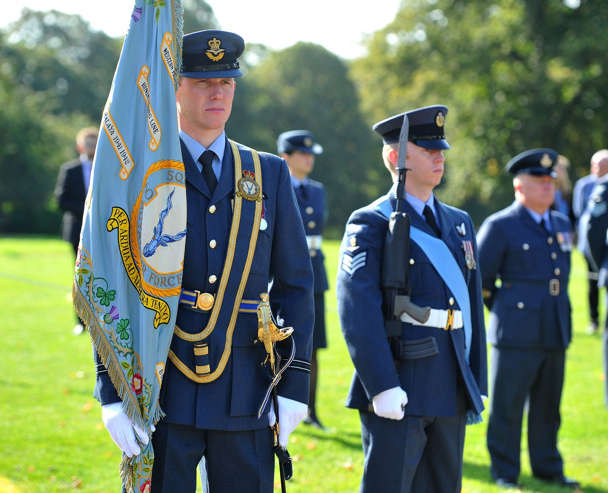 RAF Shawbury personnel at the commemoration