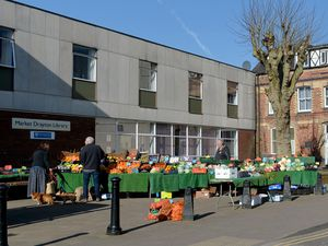 Market Drayton Library on market day