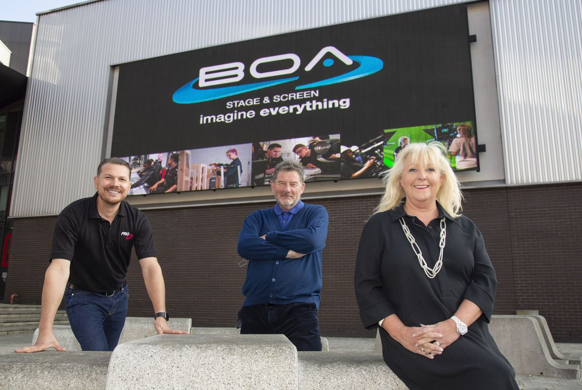 Gaynor Cheshire, CEO of the BOA Group, with Jonnie Turpie, centre, and Leigh Yeomans of PRG