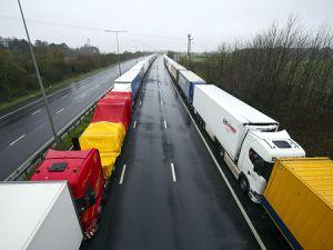 Lorries parked in Kent