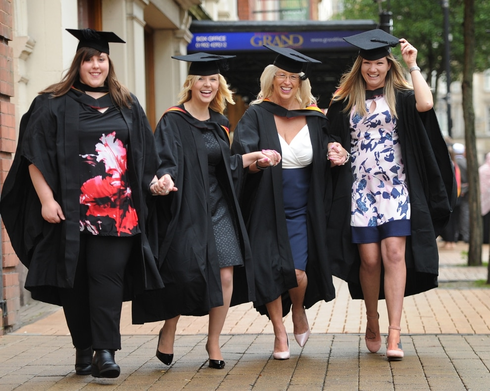 Wolverhampton University graduation: Students don caps and robes at ...
