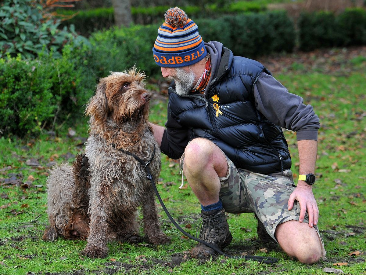 Ricky Roberts said his six-year-old Spinone, Bolly, needed to be walked more than once a day and welcomed the easing of restrictions