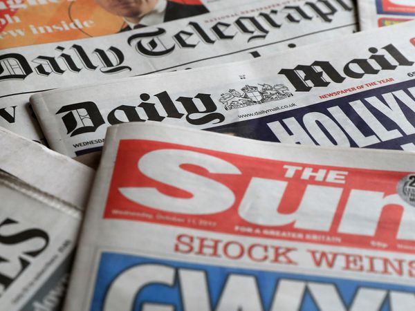 A collection of British newspapers
