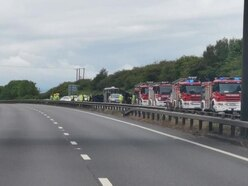 Delays after horsebox overturns on A5 near Shrewsbury