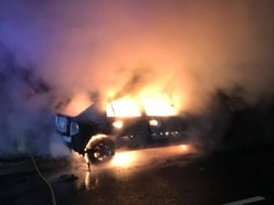 Abandoned car blazes at side of Bridgnorth road - with video