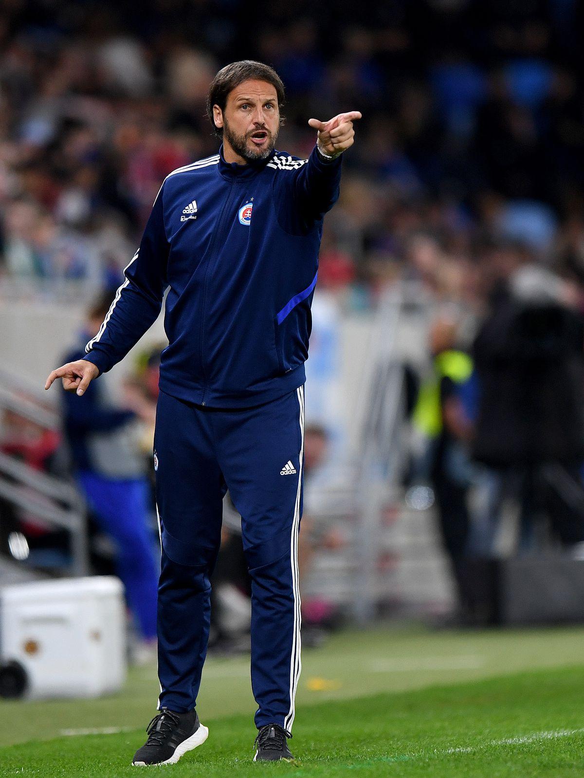 Jan Kozak the head coach / manager of Slovan Bratislava.