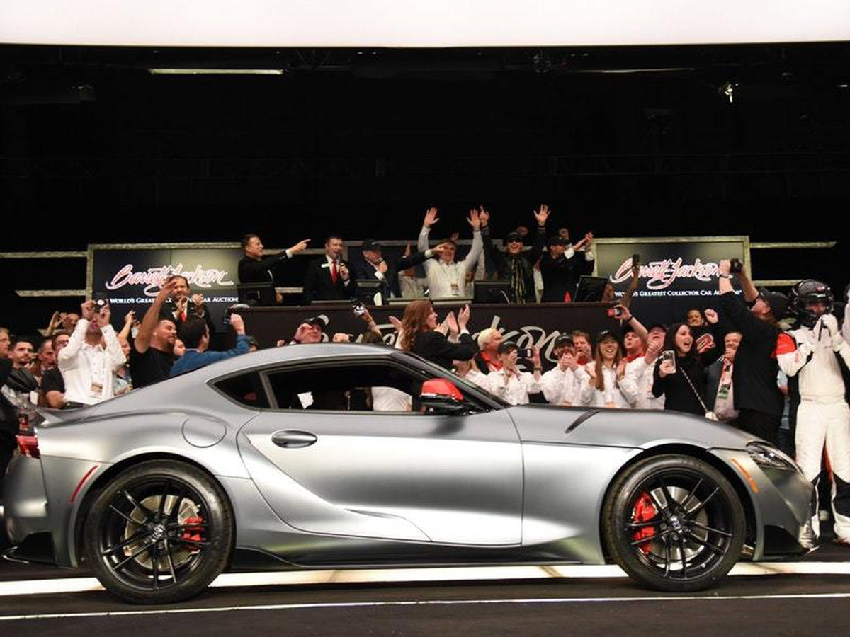 First example of all-new Toyota Supra sells for $2.1 million at auction