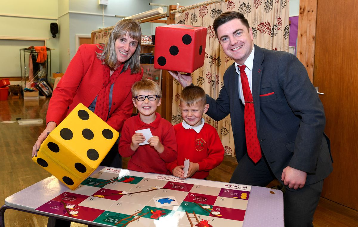Judy Dixon (customer consultant) and Matthew Tudor (senior customer consultant), from Principality's Shrewsbury branch, helped deliver a money masterclass to students at Grange Primary School.