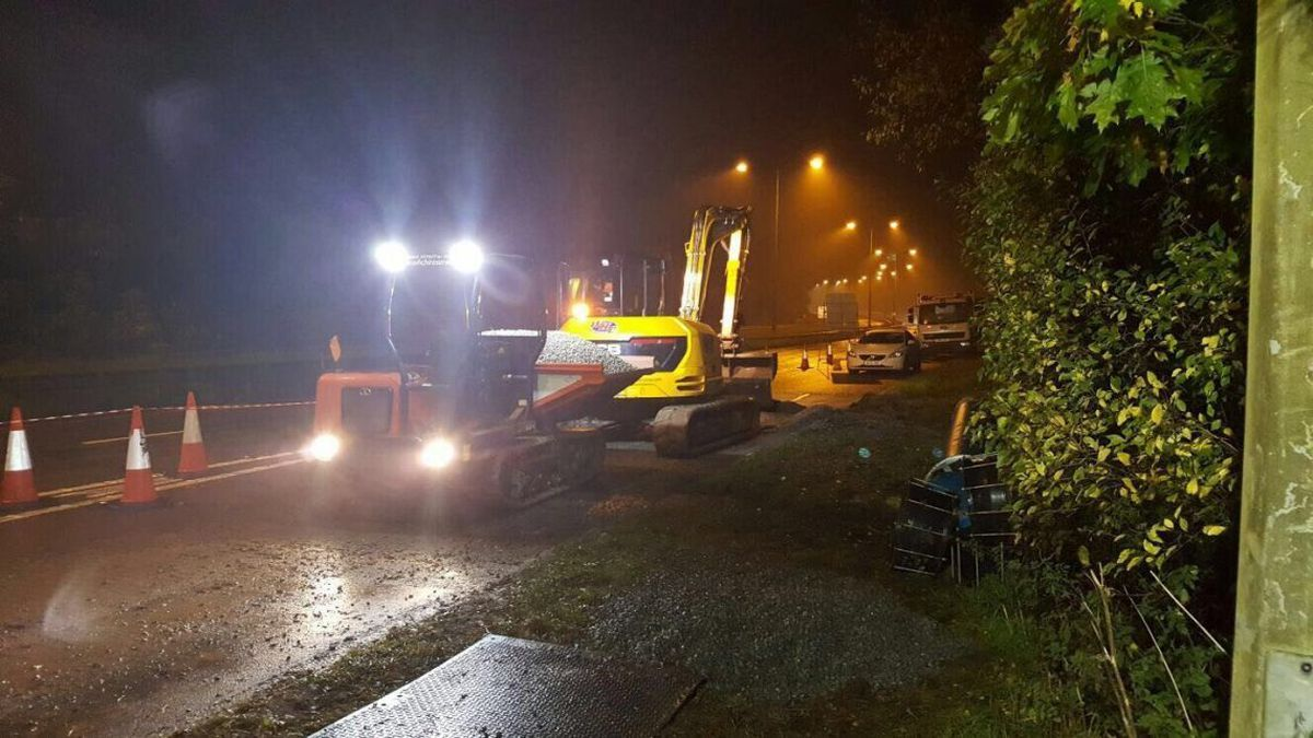 Severn Trent Water have been working round the clock