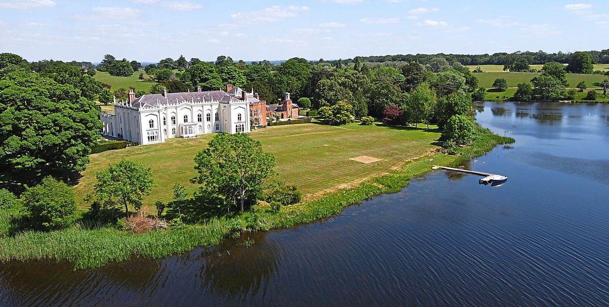 Ariel shot of Combermere Abbey