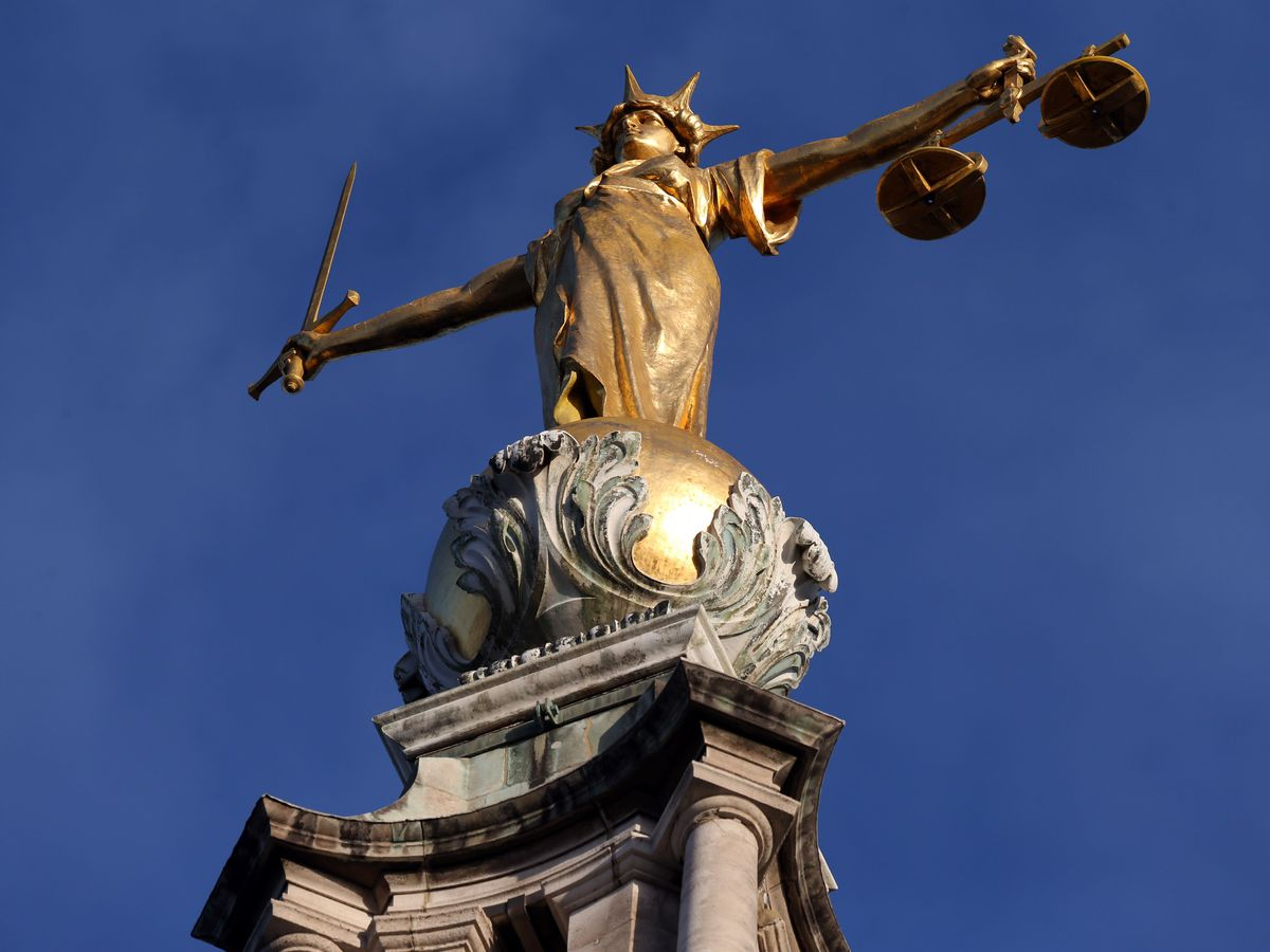 The statue of Lady Justice atop the Old Bailey