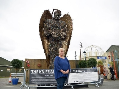 Preparations for Knife Angel visit