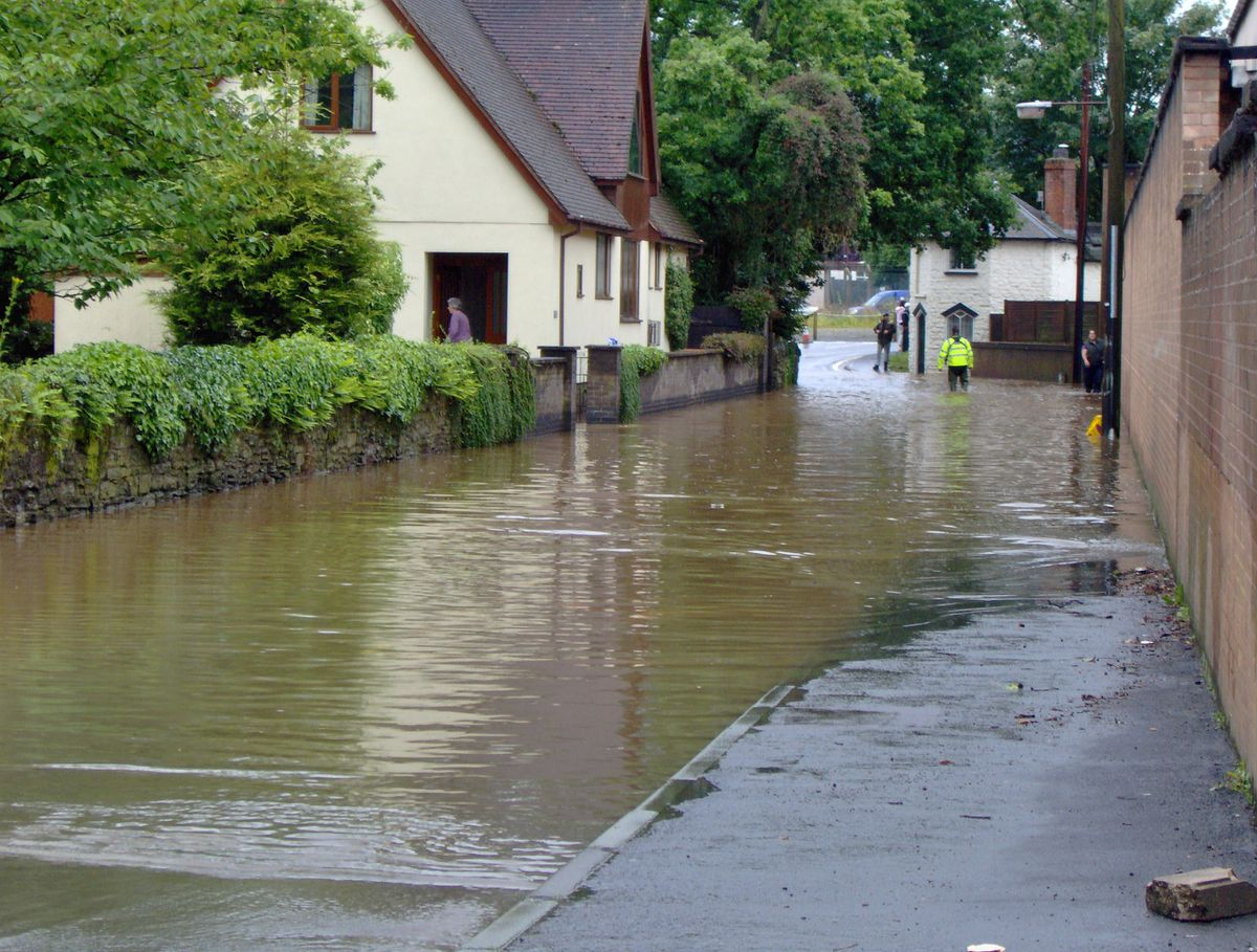 Flooding at Temeside in Ludlow