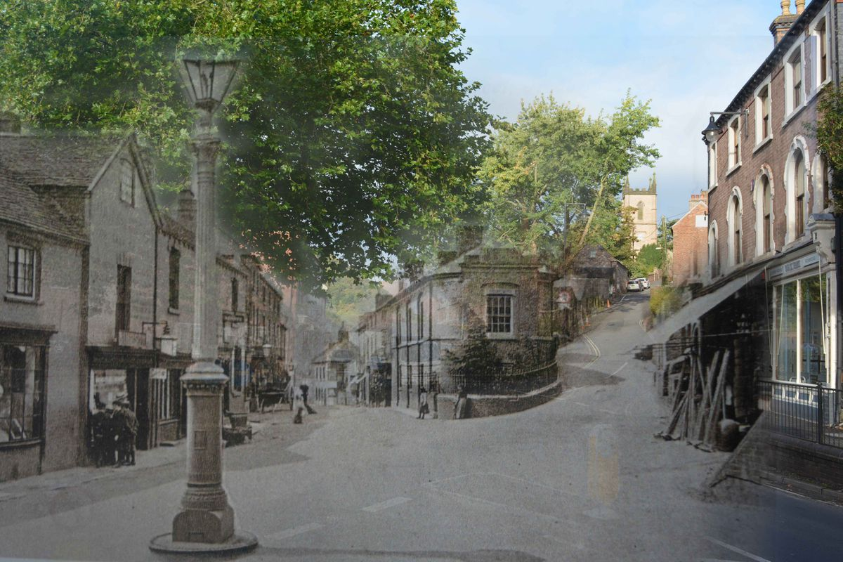 A view down into Ironbridge from the bottom of Madeley Road