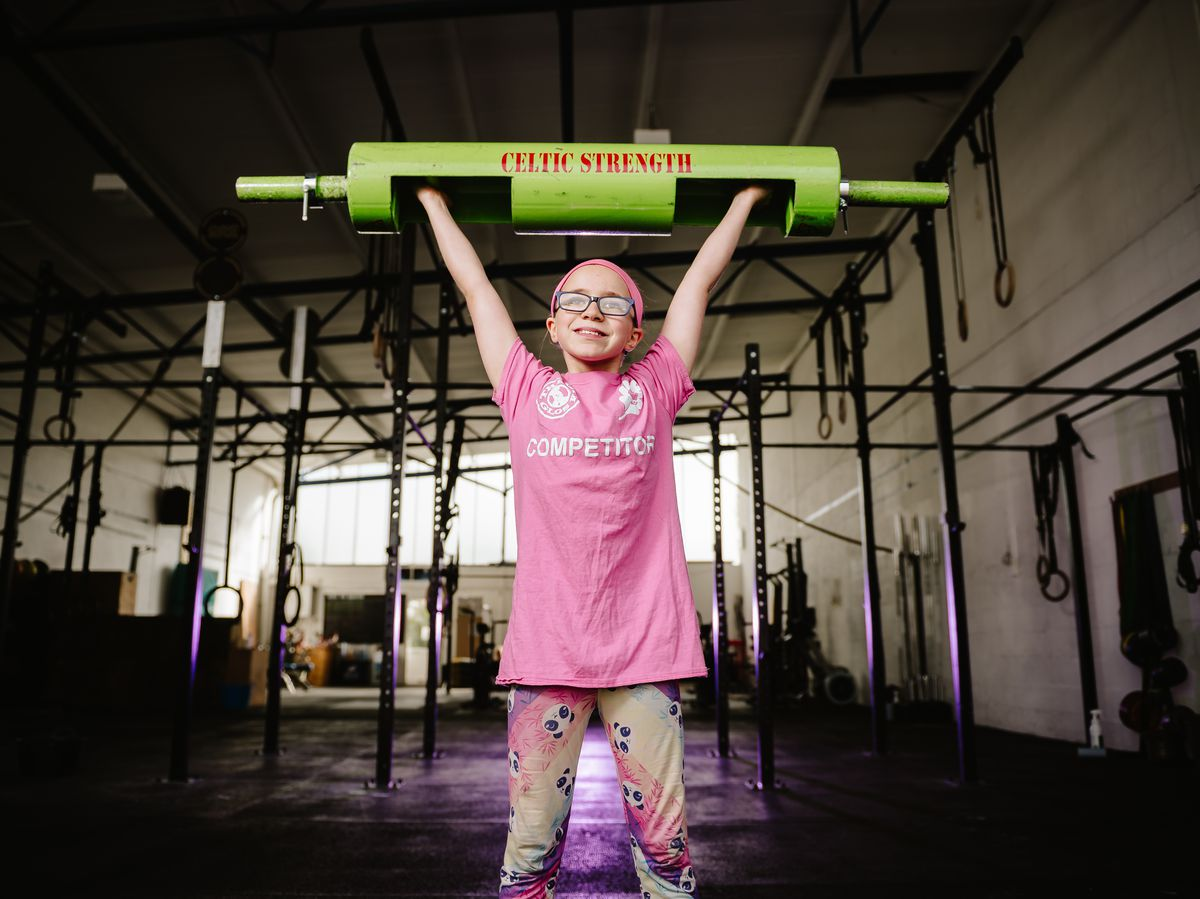 10 year old Telford Weightlifter Aeryn-Ejjina Atikinson has recently lifted three times her own body weight as a guest lifter at a competition and won. Pictured here at ORE Fitness Community in Telford.