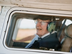The magnificent man in his flying machine - war hero, 99, takes to the skies