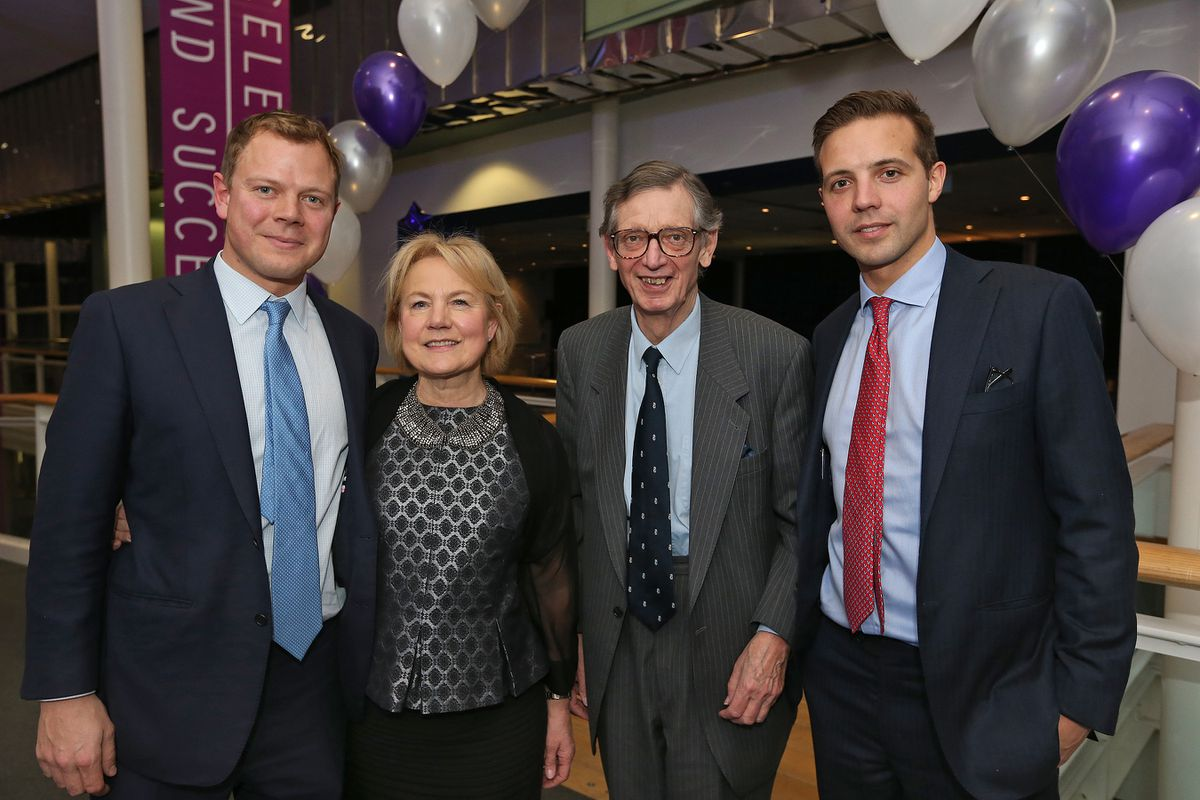 Alan Graham, third from left, with son Tom, left, wife Angela and son Edward, right