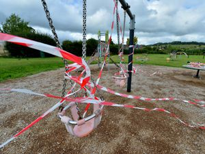 The children's park, now closed off
