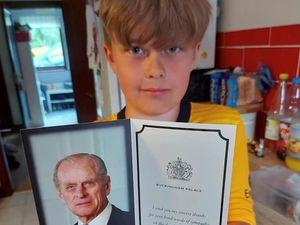 Alfie Cook from Llandinam Primary School - picture by Cllr Karl Lewis.