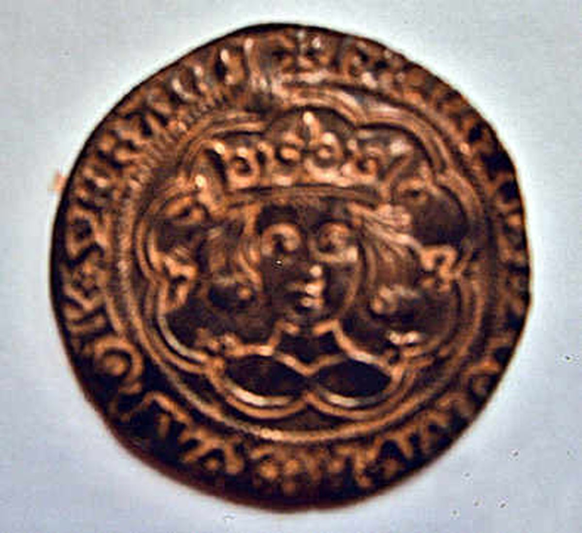 One of the coins found during the hunt for keys