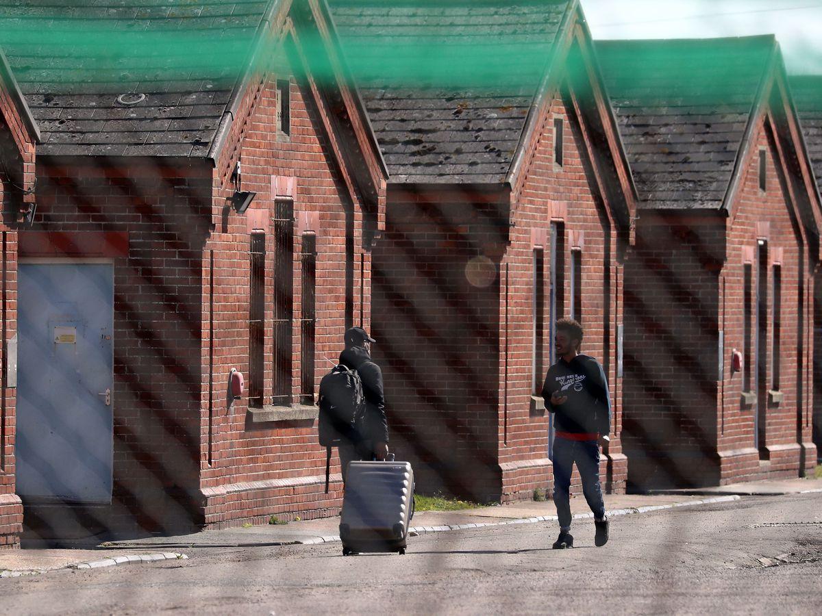 People seeking asylum – Napier Barracks