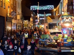 Town centre transformation for Oswestry Christmas Live
