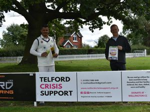 Wellington Cricket Club's First XI captain Wendell Wagner (left) and member Sam Lloyd who conceived the new partnership with Telford Crisis Support.