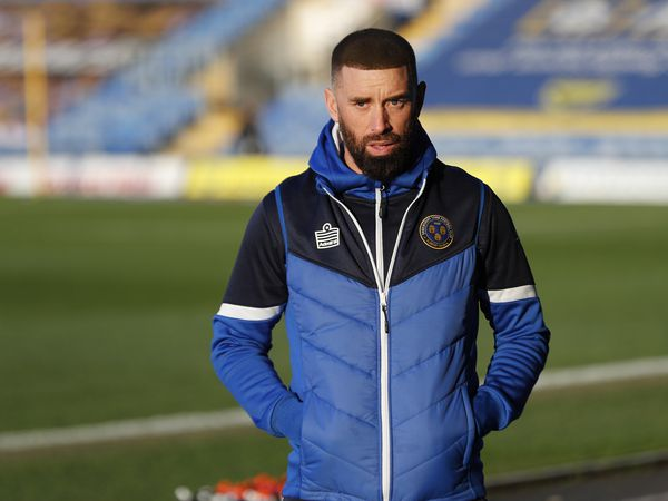 Aaron Wilbraham the assistant manager of Shrewsbury Town (AMA)