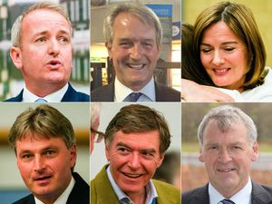 Top; Mark Pritchard, Owen Paterson and Lucy Allan. Bottom; Daniel Kawczynski, Philip Dunne and Glyn Davies.