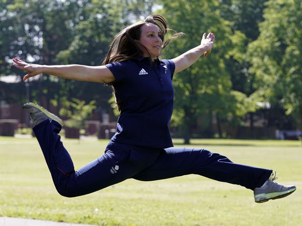 Beth Tweddle at the University of Hull as part of the launch