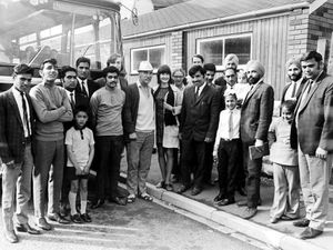 This bus trip from Wellington and Hadley to Chester Zoo was on August 5, 1971 and was organised by the Community Council of Shropshire, Shropshire Committee Against Racialism (as it was called), and community service volunteer Mark Goyder. Wearing the hat, centre, is George Evans.