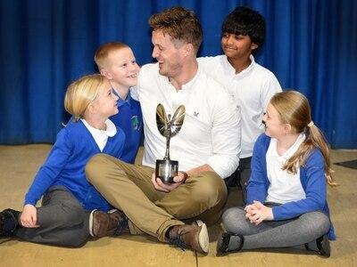 Pride of Britain winner Jake tells Shropshire pupils his story of inspiration
