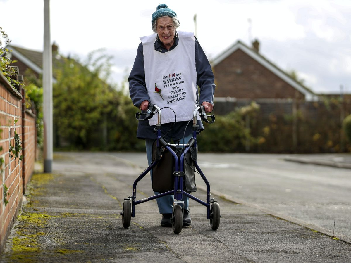 104-year-old Ruth Saunders