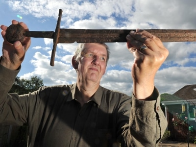 Sword found in Shropshire's Caynton caves may be precious 13th century weapon
