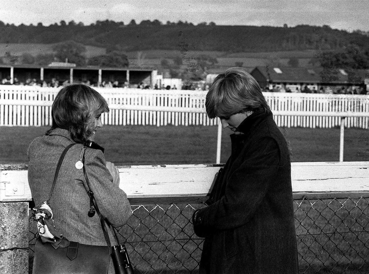 Two royal brides-to-be at Ludlow races - though of course at the time nobody knew that