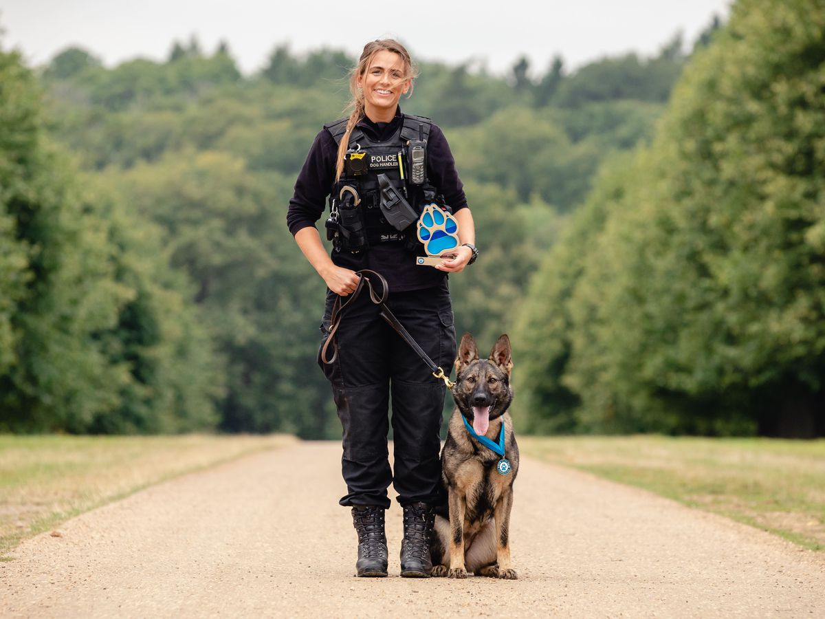 Police dog handler Pc Megan West and German shepherd Calli