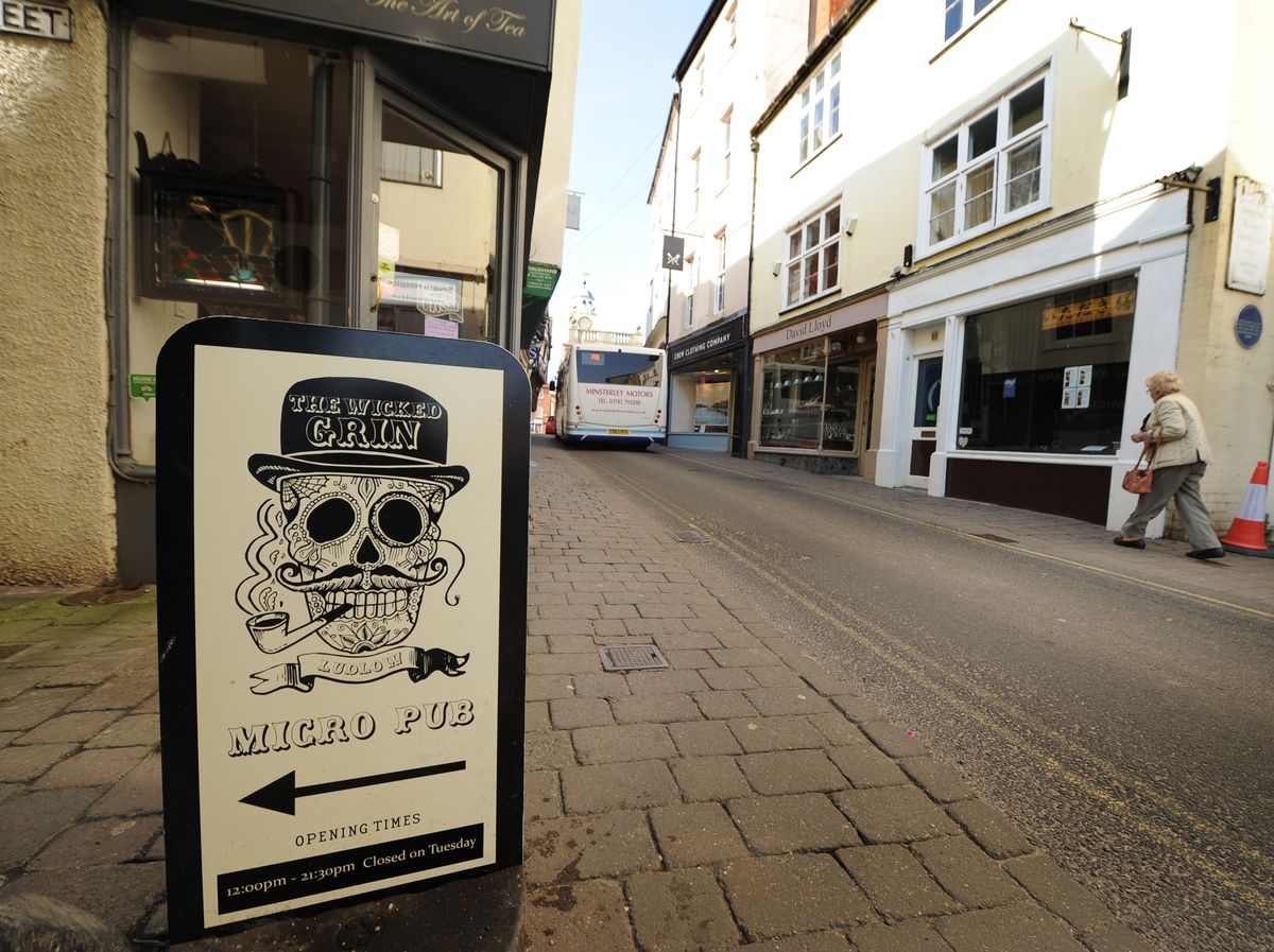 Despite the sign, there's nothing to smile about for Ludlow businesses.