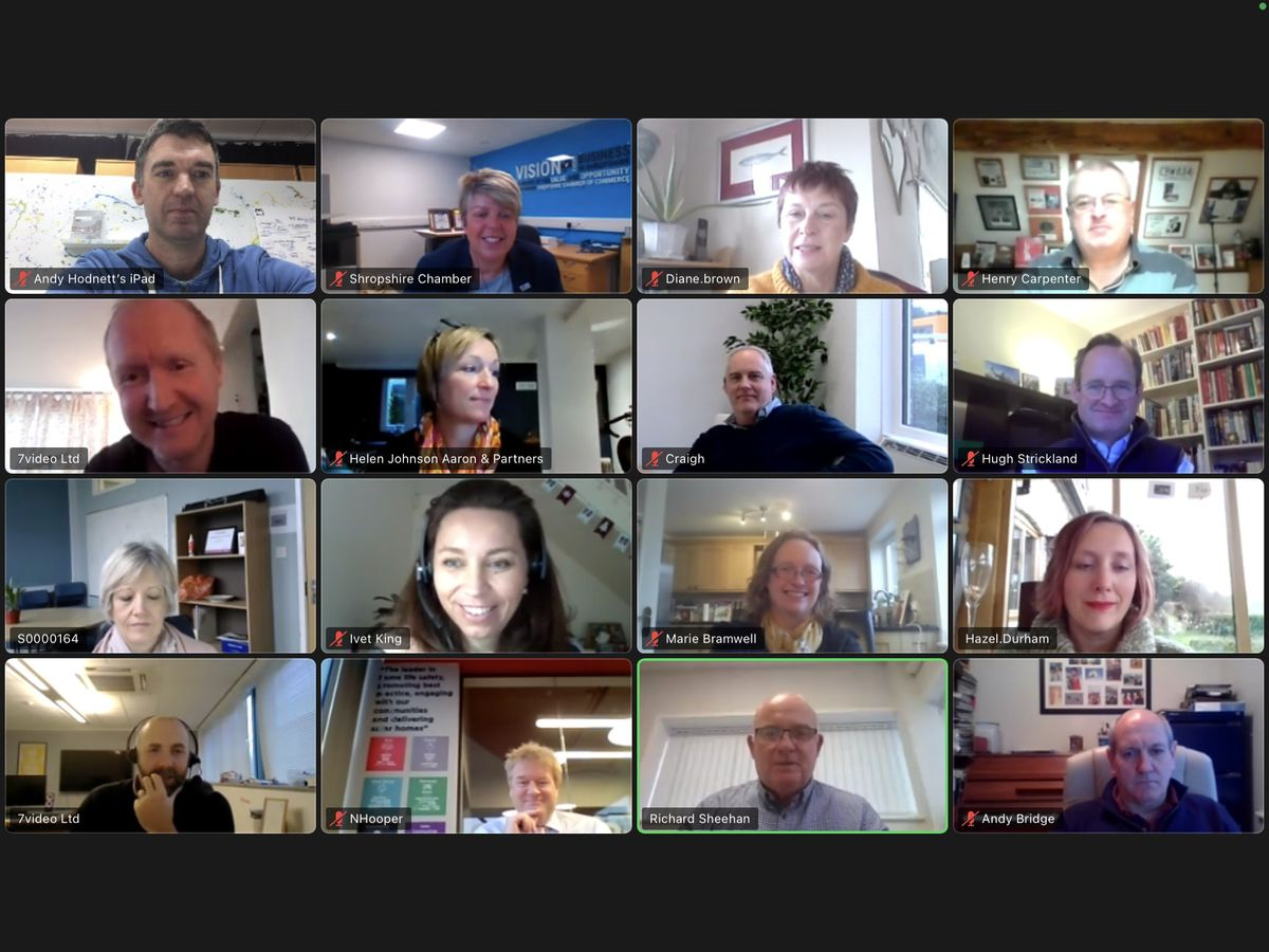 The patron executive forum, held on Zoom