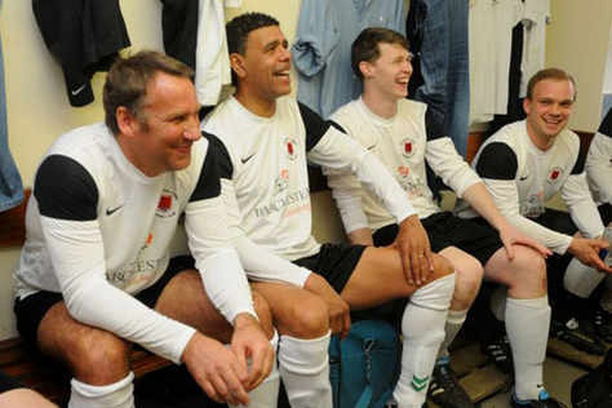 Chris Kamara and Paul Merson turn out for Welshpool