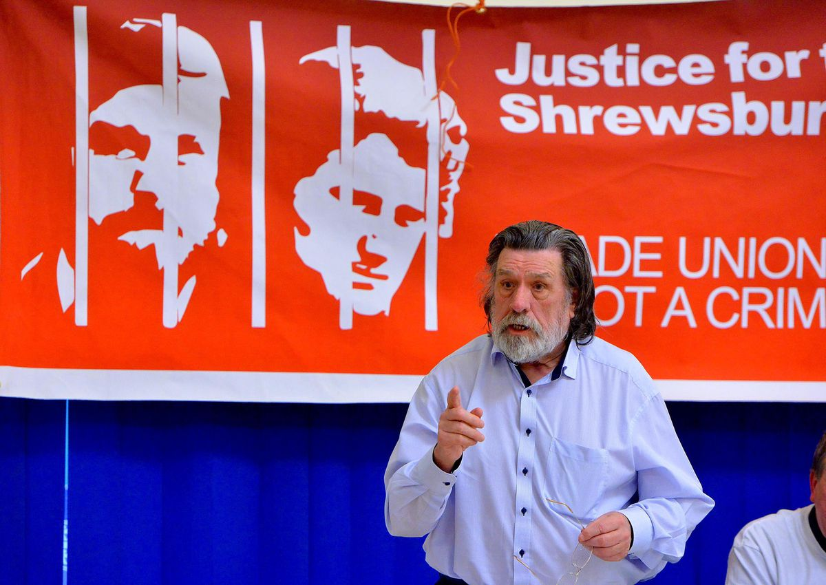 Ricky Tomlinson talking about the case in Oswestry in 2017