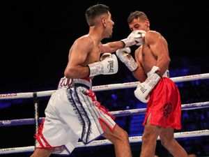 Masoud in action against Nicolae Photo: Karen Priestley Photography