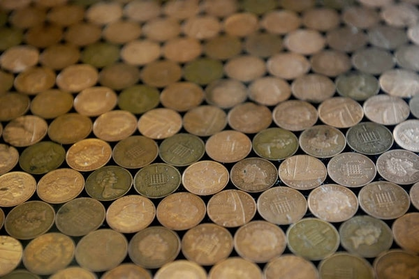 Telford Man Uses 1p Pieces To Cover His Kitchen Floor