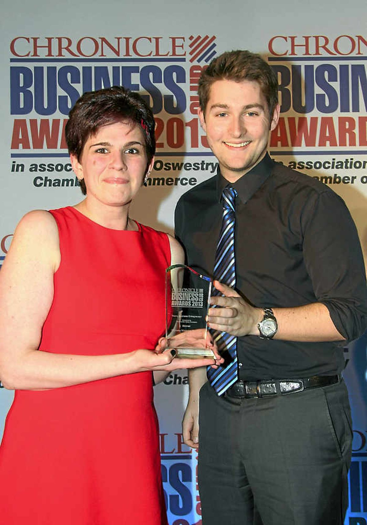 Young Business Entrepreneur – Gemma Manning-Bentley and Tristan Hartey of The Charlotte Hartey Foundation, who presented the award