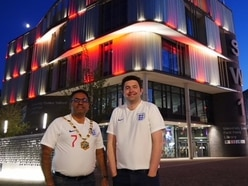 C'mon England! Landmark Telford building lit up for Gareth's boys