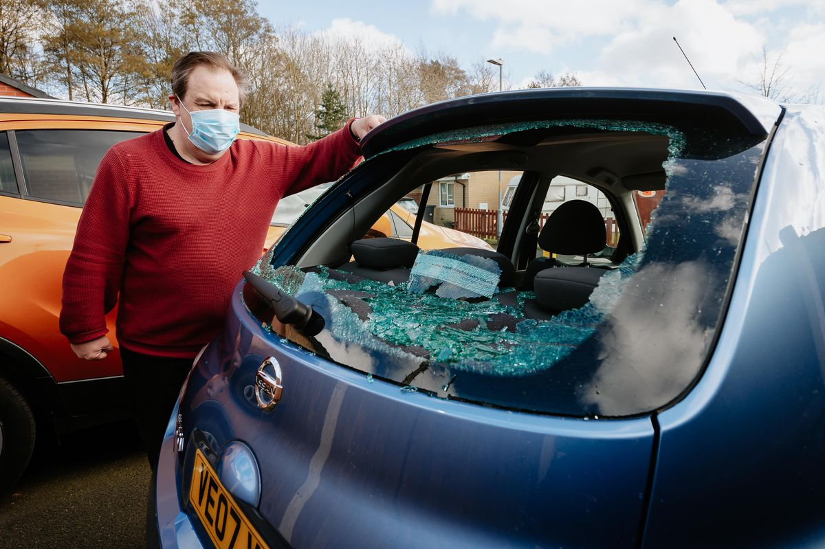 Nigel Toffanin has called for CCTV after his car and fence suffered criminal damage