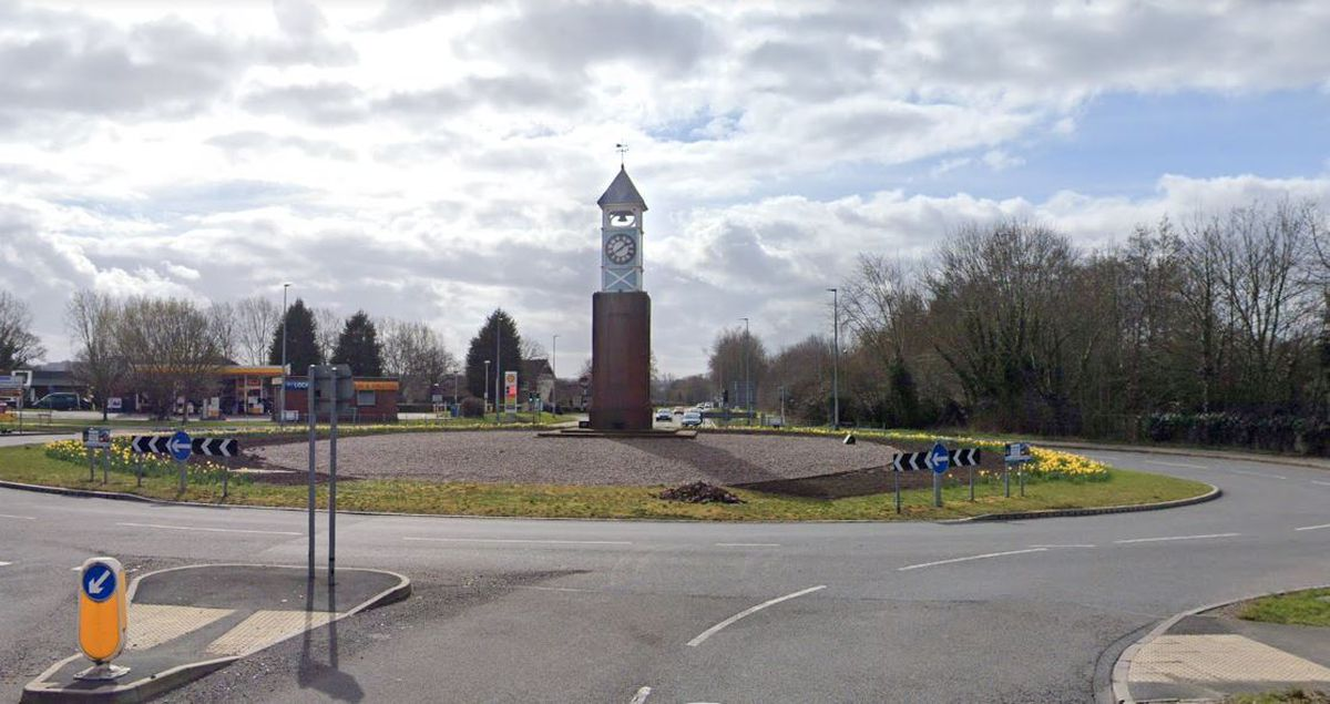 The Clock Tower roundabout in Donnington. Photo: Google