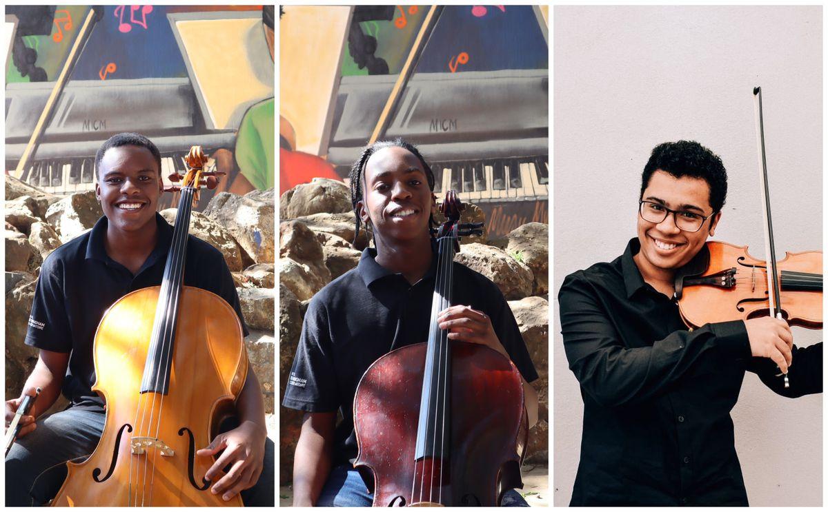 ARCO scholars Sifiso Mbatha, Kamogelo Maraba and Jordan Brooks