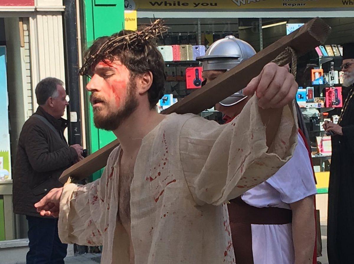 Ryan Kouroukis takes on the role of Jesus