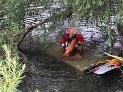 Driver escapes after car plunges into River Severn near Bridgnorth